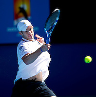 Andy Roddick (USA) (7) against Marin Cilic (CRO) (14) in the Quarter Finals of the Mens Singles. Cilic beat Roddick 7-6 6-3 3-6 2-6 6-3..International Tennis - Australian Open Tennis -  Tues 26  Jan 2010 - Melbourne Park - Melbourne - Australia ..© Frey - AMN Images, 1st Floor, Barry House, 20-22 Worple Road, London, SW19 4DH.Tel - +44 20 8947 0100.mfrey@advantagemedianet.com