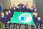 GOING GREEN: Pupils at Knockanure national school who raised their second Green Flag on Friday, pictured with Noreen Buckley (Teacher), Fr John Lucid PP, Maggie Large (Parents Representative), Julienne Donegan (Principal).