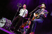 CAMDEN, NJ - JUNE 17 :  ***HOUSE COVERAGE*** The Lumineers perform at Radio 104.5 9th Birthday Show, day 2 at BB&T Pavillion in Camden, Jew Jersey on June 17, 2016 photo credit Star Shooter / MediaPunch