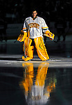14 November 2008: University of Vermont Catamount goaltender Rob Madore, a Freshman from Venetia, PA, is introduced as the starting goalie prior to a game against the Northeastern University Huskies at Gutterson Fieldhouse in Burlington, Vermont. The Catamounts fell to the Huskies 5-3...Mandatory Photo Credit: Ed Wolfstein Photo
