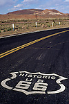Sign on old highway Route 66 Barstow California USA