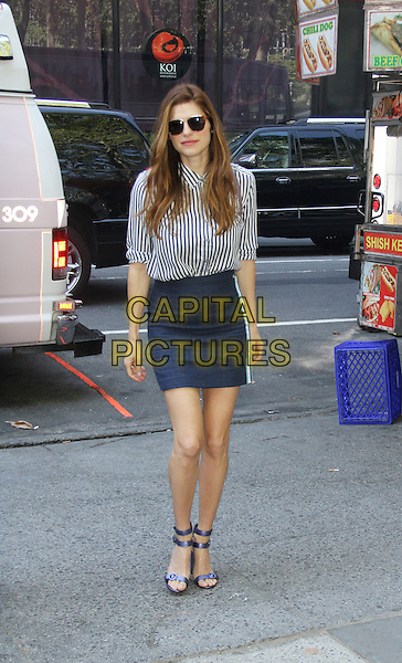 August 25, 2015: Lake Bell at Tommy Hilfiger &amp; Rafael Nadal Launch Global Brand Ambassadorship at Bryant Park  in New York .<br /> CAP/MPI/RW<br /> &copy;RW/MPI/Capital Pictures
