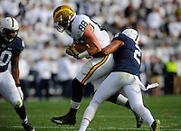 21 November 2015:  Michigan Michigan TE Jake Butt (88) runs through a tackle by Penn State S Marcus Allen (2). The Michigan Wolverines defeated the Penn State Nittany Lions 28-16 at Beaver Stadium in State College, PA. (Photo by Randy Litzinger/Icon Sportswire)