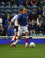 Dean Shiels in the Rangers v Queen of the South Quarter Final match in the Ramsdens Cup played at Ibrox Stadium, Glasgow on 18.9.12.