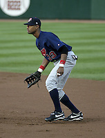 August 19, 2004:  /1b/ Eric Crozier (33) of the Syracuse Sky Chiefs, Class-AAA International League affiliate of the Toronto Blue Jays, during a game at Frontier Field in Rochester, NY.  Photo by:  Mike Janes/Four Seam Images