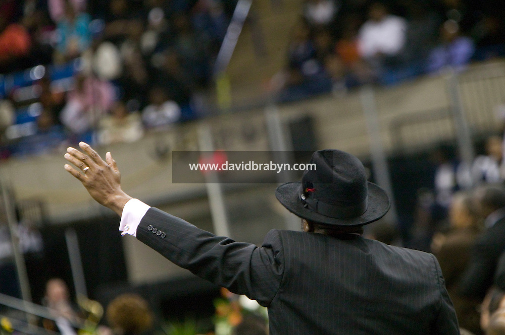 "30 December 2006 - Augusta, GA - People attend the viewing of the casket and homecoming celebration for James Brown at the James Brown Arena in Augusta, USA, 30 December 2006. Singer James Brown, also known as the ""Godfather of Soul"", died on Christmas Day 2006."
