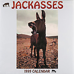 Published photography by Larry Angier..Jackasses 1999 Calendar cover, Browntrout Publishers