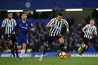 Ayoze Perez of Newcastle in possession during Chelsea vs Newcastle United, Premier League Football at Stamford Bridge on 12th January 2019