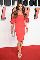 Michelle Heaton arriving for the &quot;Mission: Impossible - Fallout&quot; premiere at the BFI IMAX South Bank, London, UK. <br /> 13 July  2018<br /> Picture: Steve Vas/Featureflash/SilverHub 0208 004 5359 sales@silverhubmedia.com