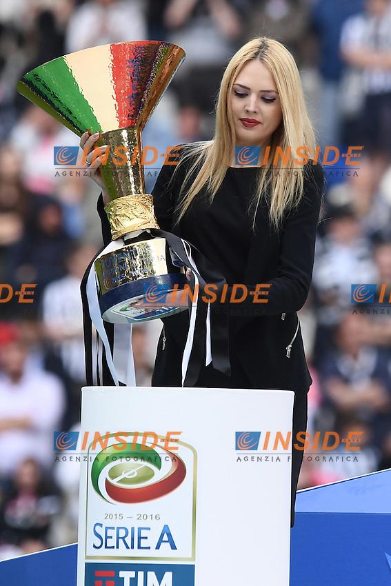 Festeggiamenti vittoria della Juventus celebration consegna della coppa, delivery of the cup<br /> Torino 14-05-2016 Stadio Olimpico Football Calcio Serie A 2015/2016 Juventus-Sampdoria. Foto Matteo Gribaudi / Image Sport / Insidefoto