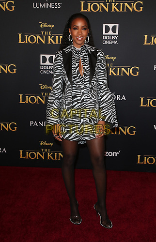 HOLLYWOOD, CA - JULY 9:  Kelly Rowland at The Lion King Film Premiere at El Capitan Theatre in Hollywood, California on July 9, 2019. <br /> CAP/MPIFS<br /> ©MPIFS/Capital Pictures