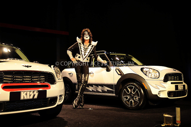 WWW.ACEPIXS.COM . . . . . .April 21, 2011...New York City...The band Kiss at the New York International Auto Show unveils BMW's Mini division kick off a marketing campaign for the Mini Countryman crossover utility vehicle on April 21, 2011 in New York City....Please byline: KRISTIN CALLAHAN - ACEPIXS.COM.. . . . . . ..Ace Pictures, Inc: ..tel: (212) 243 8787 or (646) 769 0430..e-mail: info@acepixs.com..web: http://www.acepixs.com .