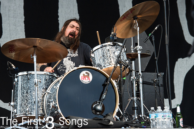 X of Down performs during the 2014 Rock On The Range festival at Columbus Crew Stadium in Columbus, Ohio.