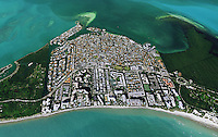 aerial phototograph of Key Biscayne; Miami-Dade County; Florida