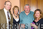 Danny Finucane, Ita Gormley, John Mulvihill and Maureen Considine were in good spirits at the North Kerry pioneers social In Kirby's Lanterns Hotel on Friday night...