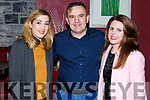 Attending the Muscular Dystrophy Fundraiser in O'Donnell's Bar on Friday night last, l-r, Catherine Rahilly (Lixnaw), Mark O'Sullivan (Killorglin) and Lisa Mulvihill (Ballyheigue).