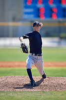 New York Yankees pitcher Philip Diehl (11) during a Minor League Spring Training game against the Toronto Blue Jays on March 18, 2018 at Englebert Complex in Dunedin, Florida.  (Mike Janes/Four Seam Images)