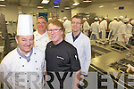 MASTER CHEFS: Chefs gave a master class in buffet presentation and fine dining in IT Tralee on Thursday evening. From front l-r were: John Murray and Liam McMahon. Back l-r were: Jurgen Schmautz and TJ O'Connor.