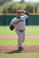 San Francisco Giants relief pitcher John Gavin (33) delivers a pitch to the plate during a Minor League Spring Training game against the Cleveland Indians at the San Francisco Giants Training Complex on March 14, 2018 in Scottsdale, Arizona. (Zachary Lucy/Four Seam Images)