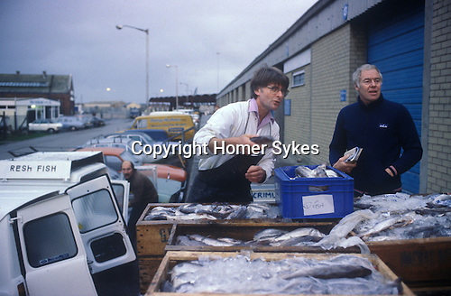 Fleetwood Lancashire UK Fishing industry morning catch