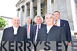 COURTHOUSE: Pictured outside the Courthouse on Wednesday l-r: Mr Justice Richard Johnson (President of the High Court), Padraig Burke (County Registrar), John Galvin (Chairman of the Kerry Law Society), Chief Justice John Murray and Matt Breslin (President of the Kerry Law Society).   Copyright Kerry's Eye 2008