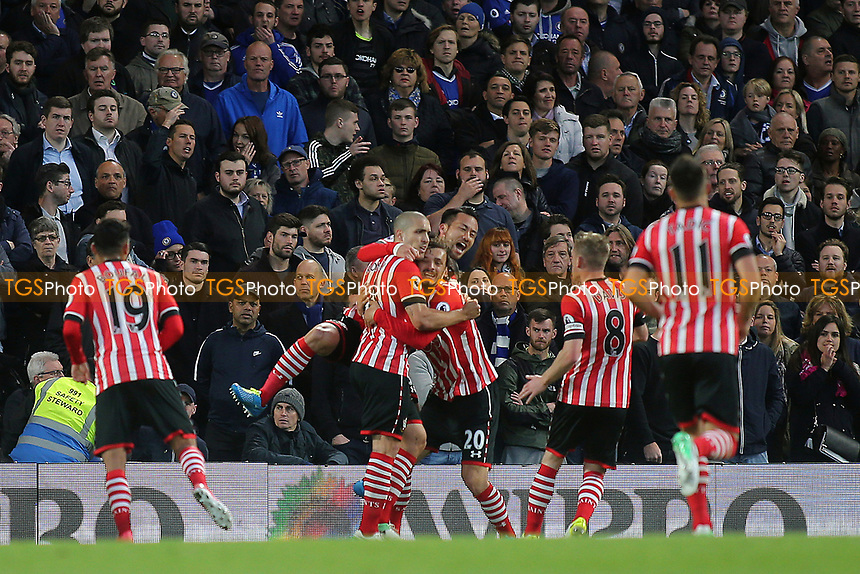 Oriol Romeu celebrates scoring Southampton's opening goal during Chelsea vs Southampton, Premier League Football at Stamford Bridge on 25th April 2017