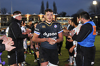 Zach Mercer and the rest of the Bath Rugby team leave the field after the match. European Rugby Challenge Cup match, between Bath Rugby and Pau (Section Paloise) on January 21, 2017 at the Recreation Ground in Bath, England. Photo by: Patrick Khachfe / Onside Images