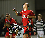 Billy Mehmet celebrates his last minute goal for St Mirren