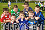 Barry Keane, Peader Keane, Niall O'Shea. Back row: Eoin Blake, Patrick Broderick, Brendan O'Mahony and Gearoid Murphy at the Milltown/Listry Community Games in Milltown GAA pitch on Saturday..