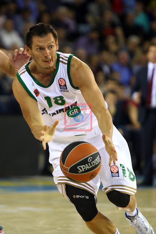 Euroleague Basketball-Regular Season Round 5.<br /> FC Barcelona vs Panathinaikos Athens: 78-69.<br /> Janis Blums.