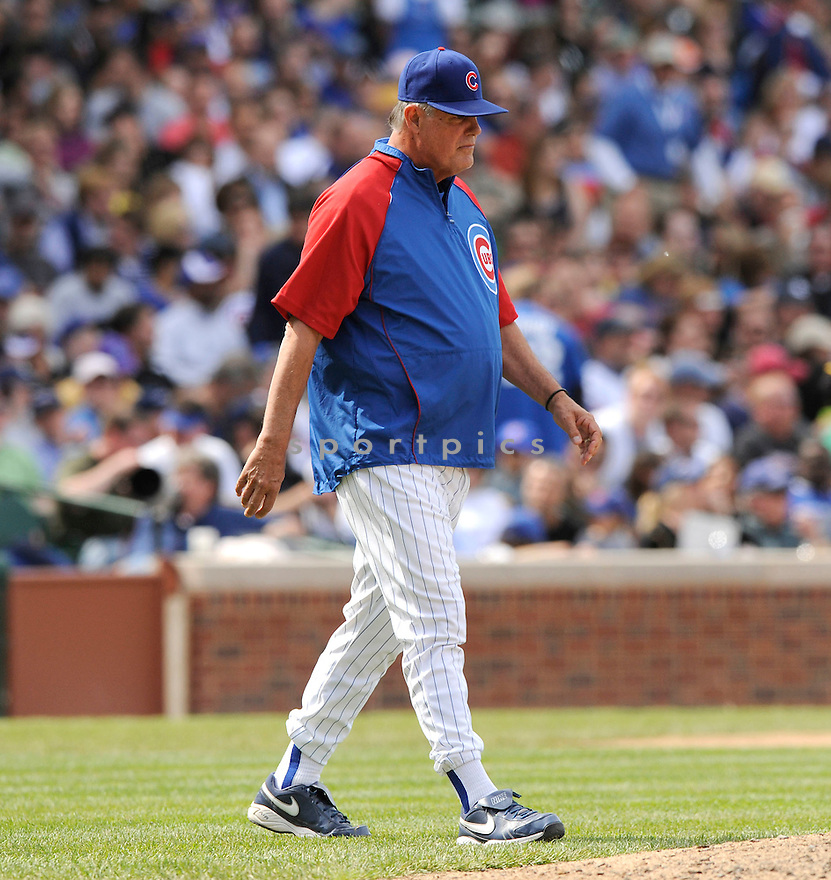 LOU PINIELLA, of the Chicago Cubs in action during the Cubs game against the Pittsburgh Pirates  at Wrigley Field in Chicago, IL  on May 14, 2010...The Pittsburgh Pirates  win 10-6.