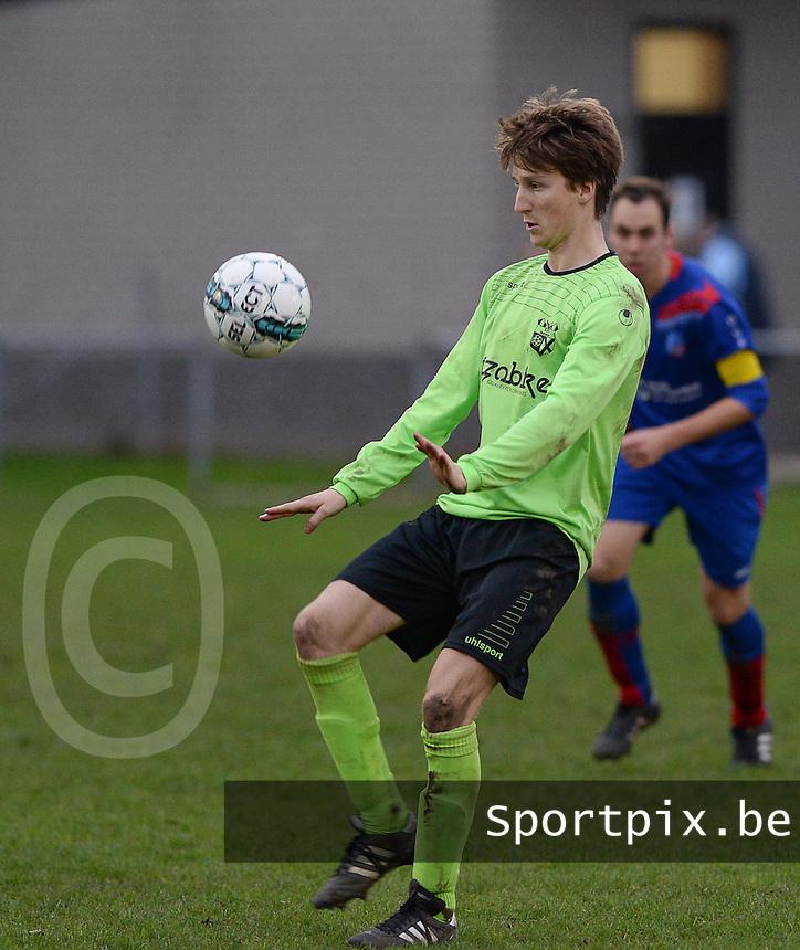 FC Moerkerke  : Mathias Van Kerschaver<br /> Foto VDB / Bart Vandenbroucke