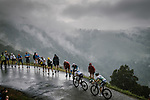 White Jersey Egan Bernal (COL) Team Ineos and Emanuel Buchmann (GER) Bora-Hansgrohe climb Prat d'Albis during Stage 15 of the 2019 Tour de France running 185km from Limoux to Foix Prat d'Albis, France. 20th July 2019.<br /> Picture: ASO/Pauline Ballet | Cyclefile<br /> All photos usage must carry mandatory copyright credit (© Cyclefile | ASO/Pauline Ballet)