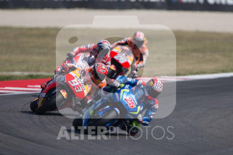 Maverick Vinales - spa - Team Suzuki Ecstar - Suzuki<br /> Marc Marquez - spa - Repsol Honda Team - Honda