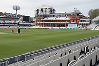 General view of the ground looking towards the pavilion ahead of Middlesex CCC vs Essex CCC, Specsavers County Championship Division 1 Cricket at Lord's Cricket Ground on 23rd April 2017