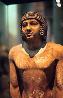 World Civilization:  Egypt--Nenkheftka, 5th Dynasty, about 2400 B.C.  Typical example of statues placed in tombs as magical substitutes for bodies of deceased.  British Museum.  Photo '90.