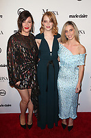 WEST HOLLYWOOD, CA - JANUARY 11: Rachel Goodwin, Emma Stone, Mara Roszak, at Marie Claire's Third Annual Image Makers Awards at Delilah LA in West Hollywood, California on January 11, 2018. Credit: Faye Sadou/MediaPunch