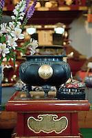 Altar detail, Wailuku Jodo Buddhist Mission, Wailuku, Maui