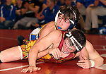 SIOUX FALLS, SD - DECEMBER 28:  John Lemer from Canton has control of Troy Kiggins from Rosevelt in their 126 pound championship match Saturday afternoon December 28, 2013 at Lincoln High School in Sioux Falls, South Dakota. (Photo by  Dave Eggen/Inertia)