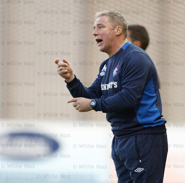 Ally McCoist keeps the young boys on their toes during the second half as he makes changes
