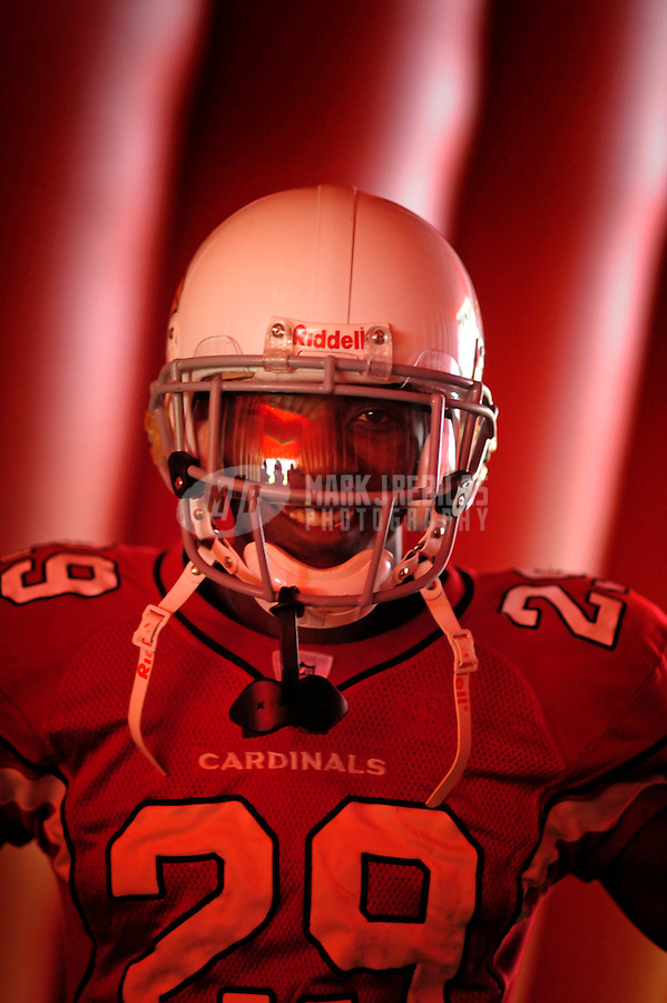 Dec. 14, 2008; Glendale, AZ, USA; Arizona Cardinals cornerback Dominique Rodgers-Cromartie against the Minnesota Vikings at University of Phoenix Stadium. Mandatory Credit: Mark J. Rebilas-