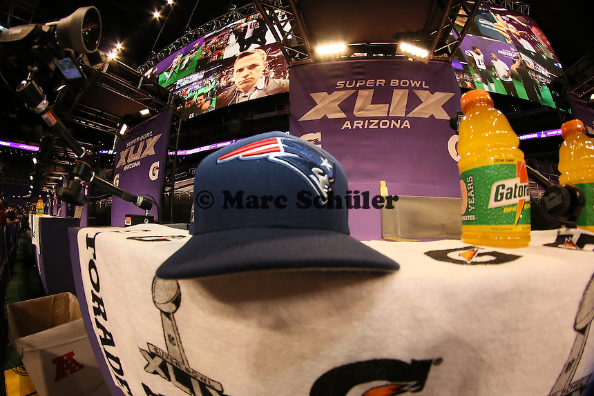 Kappe der New England Patriots - Super Bowl XLIX Media Day, US Airways Center, Phoenix