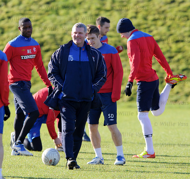 Ian Durrant all smiles as he takes training