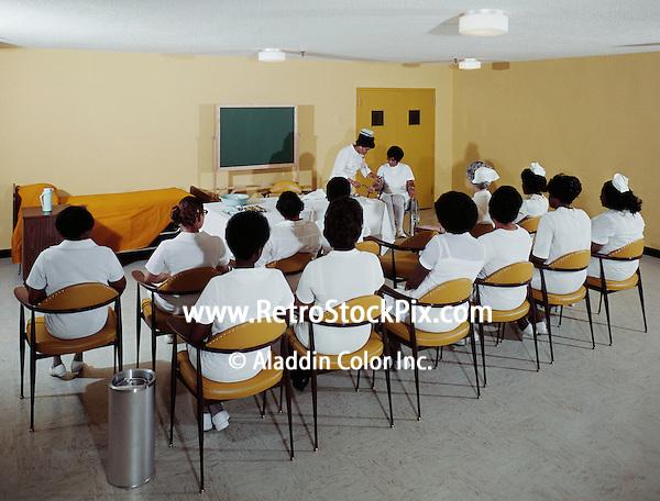 Nurses in a classroom - 1962