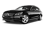 Stock pictures of low aggressive front three quarter view of a 2014 Mercedes Benz C-CLASS Avantgarde 5 Door Wagon 2WD Low Aggressive