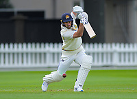Otago's Neil Broom bats on day one of the Plunket Shield cricket match between the Wellington Firebirds and Otago Volts at Basin Reserve in Wellington, New Zealand on Monday, 21 October 2019. Photo: Dave Lintott / lintottphoto.co.nz