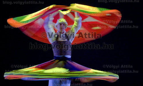 Dancer presents a dervish dance during the Dance Palette show organized by Dance Art Magazine in the Opera House.