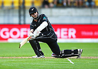 Blackcaps Kane Williamson bats during the third ODI cricket match between the Blackcaps & England at Westpac stadium, Wellington. 3rd March 2018. © Copyright Photo: Grant Down / www.photosport.nz