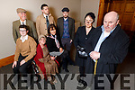 Members of the Zyber Theatre launching their upcoming play The Field in the Meadowlands Hotel on Thursday night.   <br /> Front l to r: Mags Slattery (Mrs Butler) and John Patton (Bull McCabe).<br /> Seated l to r: Conor O'Sullivan (Leamy Flannagan), Siobhan Keane (Mrs Dandy McCabe) and Rowan Johnston (Maimie Flanagan).<br /> Standing l to r: Frank Houlihan (Dandy McCabe), Chris Connell (William Dee) and Kevin McElligott (Tadhg McCabe).