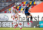 nph00351: Fussball, 1. Bundesliga, Saison 19/20, 26. Spieltag, Fortuna Düsseldorf - FC Paderborn 07, 16.05.2020: Andre Hoffmann (Fortuna Düsseldorf, l.) und Marcel Sobottka (Fortuna Düsseldorf) (M) gegen Dennis Srbeny (SC Paderborn 07).<br /> <br /> Foto: Moritz Müller/Pool / Verbreitung via Meuter/nordphoto<br /> <br /> Nur für journalistische Zwecke! Only for editorial use!<br /> <br /> Gemäß den Vorgaben der DFL Deutsche Fußball Liga ist es untersagt, in dem Stadion und/oder vom Spiel angefertigte Fotoaufnahmen in Form von Sequenzbildern und/oder videoähnlichen Fotostrecken zu verwerten bzw. verwerten zu lassen. DFL regulations prohibit any use of photographs as image sequences and/or quasi-video.